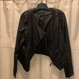 Forever 21 Faux Leather Jacket - Size 1X